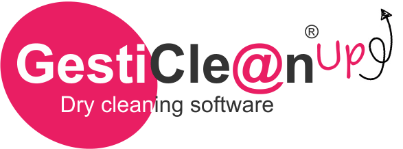 GestiClean Up' logo, dry cleaning management software